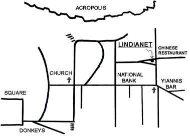 map for lindianet at lindos rodos