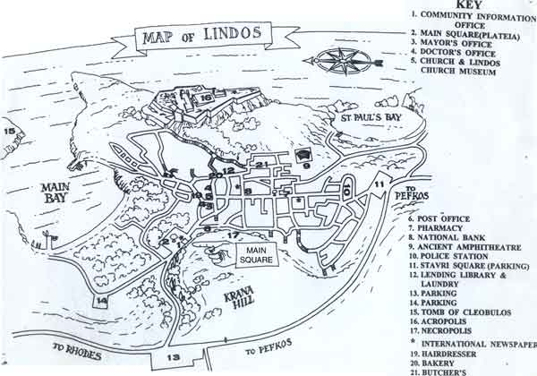 map for lindos
